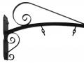 Staffa con tubo curvo ricci e catenelle