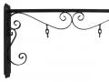 Staffa con tubo ricci e catenelle